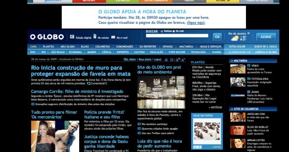 Trivial Globo Changes Color Eyes On Brazil